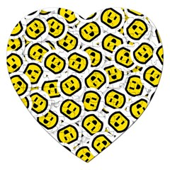 Face Smile Yellow Copy Jigsaw Puzzle (Heart)