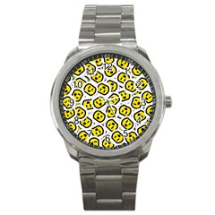 Face Smile Yellow Copy Sport Metal Watch