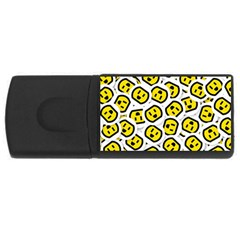 Face Smile Yellow Copy USB Flash Drive Rectangular (4 GB)