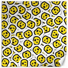 Face Smile Yellow Copy Canvas 20  x 20