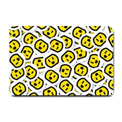 Face Smile Yellow Copy Small Doormat