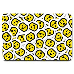Face Smile Yellow Copy Large Doormat