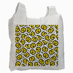 Face Smile Yellow Copy Recycle Bag (Two Side)