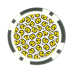Face Smile Yellow Copy Poker Chip Card Guards (10 pack)