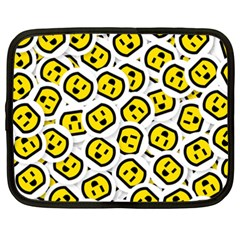 Face Smile Yellow Copy Netbook Case (XXL)