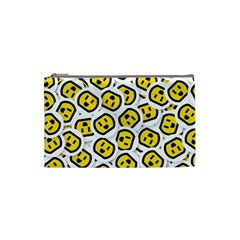 Face Smile Yellow Copy Cosmetic Bag (Small)