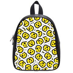 Face Smile Yellow Copy School Bags (Small)