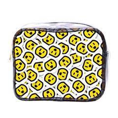 Face Smile Yellow Copy Mini Toiletries Bags