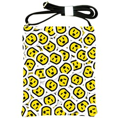 Face Smile Yellow Copy Shoulder Sling Bags