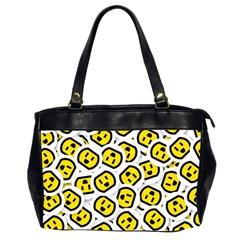 Face Smile Yellow Copy Office Handbags (2 Sides)