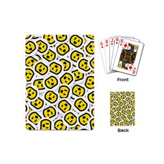 Face Smile Yellow Copy Playing Cards (Mini)