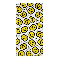 Face Smile Yellow Copy Shower Curtain 36  x 72  (Stall)