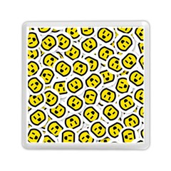 Face Smile Yellow Copy Memory Card Reader (Square)