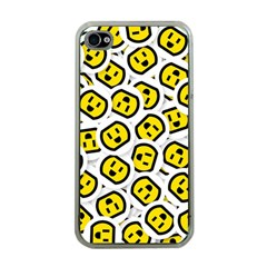 Face Smile Yellow Copy Apple iPhone 4 Case (Clear)