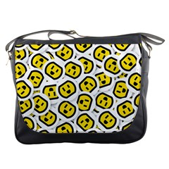 Face Smile Yellow Copy Messenger Bags