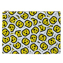 Face Smile Yellow Copy Cosmetic Bag (XXL)