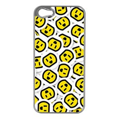 Face Smile Yellow Copy Apple iPhone 5 Case (Silver)
