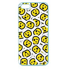 Face Smile Yellow Copy Apple Seamless iPhone 5 Case (Color)