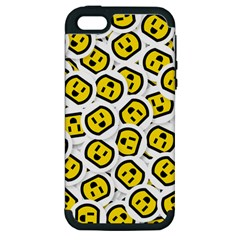 Face Smile Yellow Copy Apple iPhone 5 Hardshell Case (PC+Silicone)