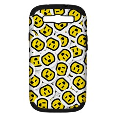 Face Smile Yellow Copy Samsung Galaxy S III Hardshell Case (PC+Silicone)