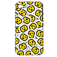 Face Smile Yellow Copy Apple iPhone 4/4S Hardshell Case (PC+Silicone)