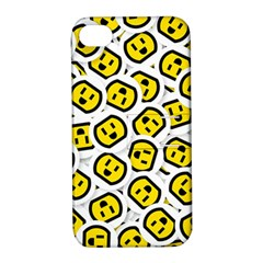Face Smile Yellow Copy Apple iPhone 4/4S Hardshell Case with Stand