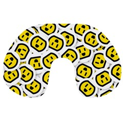 Face Smile Yellow Copy Travel Neck Pillows