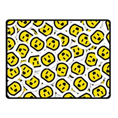Face Smile Yellow Copy Double Sided Fleece Blanket (Small)