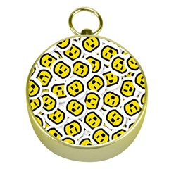 Face Smile Yellow Copy Gold Compasses