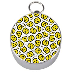 Face Smile Yellow Copy Silver Compasses