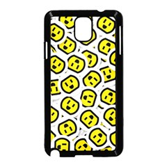 Face Smile Yellow Copy Samsung Galaxy Note 3 Neo Hardshell Case (Black)