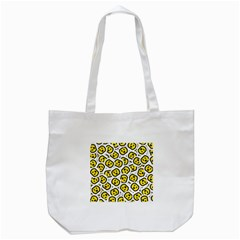 Face Smile Yellow Copy Tote Bag (White)