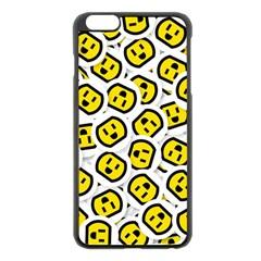 Face Smile Yellow Copy Apple iPhone 6 Plus/6S Plus Black Enamel Case