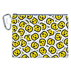 Face Smile Yellow Copy Canvas Cosmetic Bag (XXL)