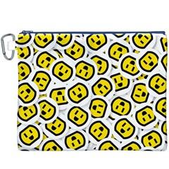 Face Smile Yellow Copy Canvas Cosmetic Bag (XXXL)