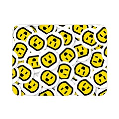 Face Smile Yellow Copy Double Sided Flano Blanket (Mini)