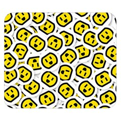 Face Smile Yellow Copy Double Sided Flano Blanket (Small)