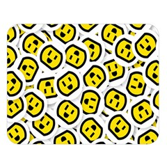 Face Smile Yellow Copy Double Sided Flano Blanket (Large)