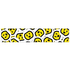Face Smile Yellow Copy Flano Scarf (Small)