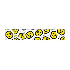 Face Smile Yellow Copy Flano Scarf (Mini)