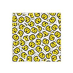 Face Smile Yellow Copy Satin Bandana Scarf