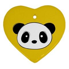 Face Panda Cute Ornament (Heart)
