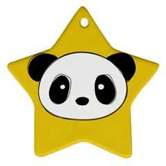 Face Panda Cute Ornament (Star)