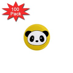 Face Panda Cute 1  Mini Magnets (100 pack)
