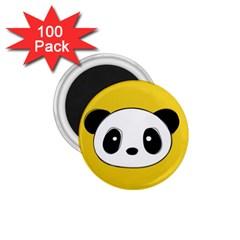 Face Panda Cute 1.75  Magnets (100 pack)