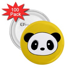 Face Panda Cute 2.25  Buttons (100 pack)