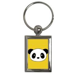 Face Panda Cute Key Chains (Rectangle)