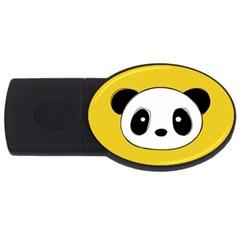 Face Panda Cute USB Flash Drive Oval (1 GB)
