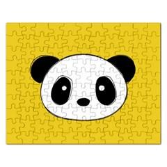 Face Panda Cute Rectangular Jigsaw Puzzl