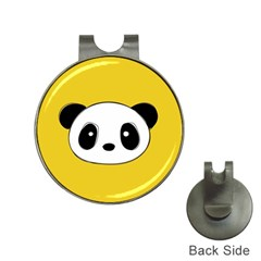 Face Panda Cute Hat Clips with Golf Markers